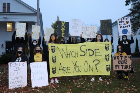 Wide Awake Protest with Wachusett students
