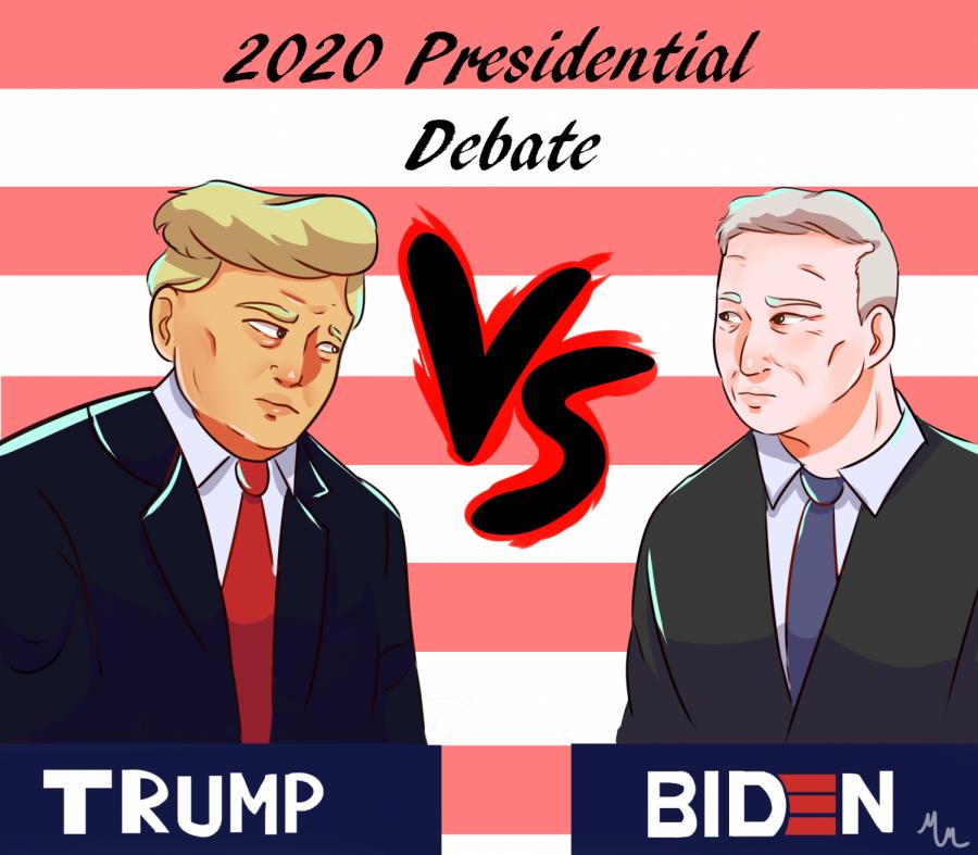 Cartoon of Biden and Trump