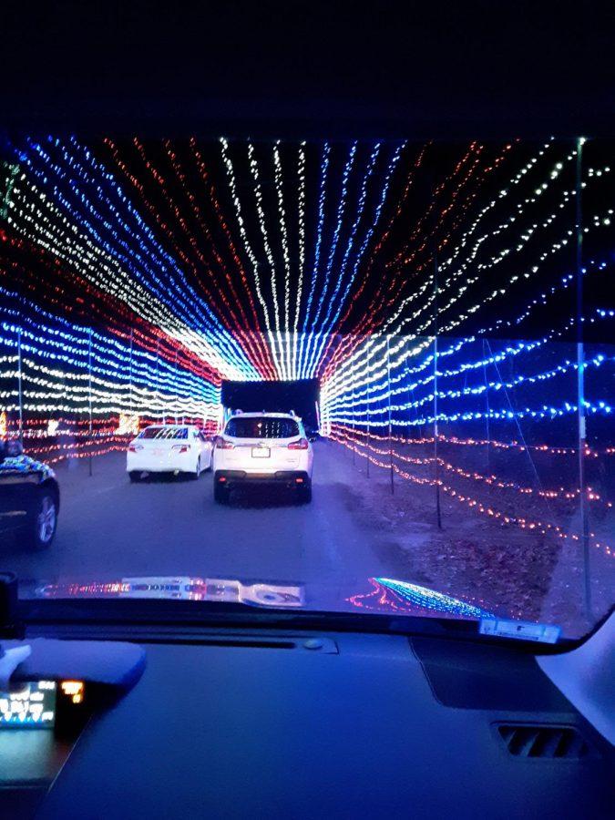 Socially distanced light tunnel