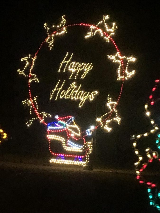 The holidays have come early at the Magic of the Lights show