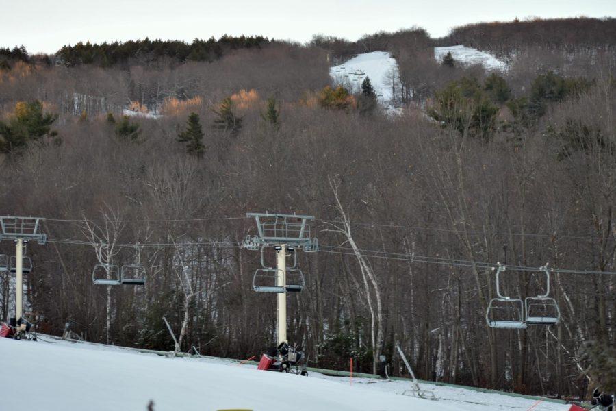 Ski lifts at Wachusett Mountain
