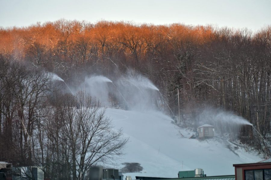 Snow is being readily made as the busy season starts at Wachusett Mountain