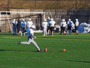 Football practice at Wachusett