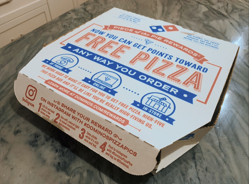 Dominos Pizza is a classic takeout item for people in the five Wachusett towns.