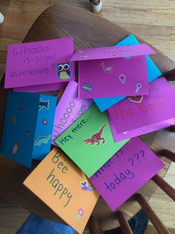 These cards are being sent to children in hospitals to raise spirits.